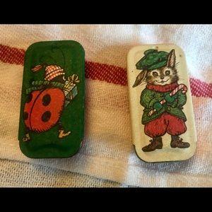 Potpourri Press Vintage Miniature Christmas Tins
